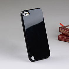 Custodia Silicone Morbida Lucido per Apple iPod Touch 5 Nero