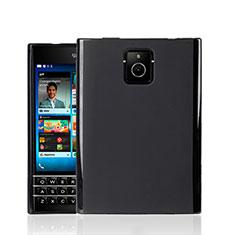 Custodia Silicone Morbida Lucido per Blackberry Passport Q30 Nero