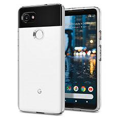 Custodia Silicone Morbida Lucido per Google Pixel 2 XL Bianco