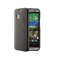 Custodia Silicone Morbida Lucido per HTC One M8 Nero