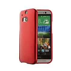 Custodia Silicone Morbida Lucido per HTC One M8 Rosso