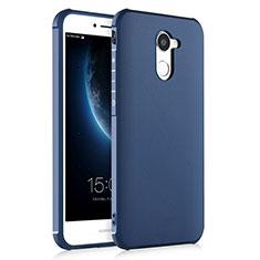 Custodia Silicone Morbida Lucido per Huawei Enjoy 7 Plus Blu