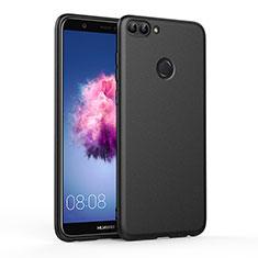 Custodia Silicone Morbida Lucido per Huawei Enjoy 7S Nero