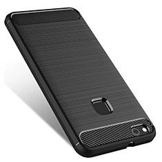 Custodia Silicone Morbida Lucido per Huawei P10 Lite Nero