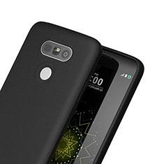 Custodia Silicone Morbida Lucido per LG G5 Nero
