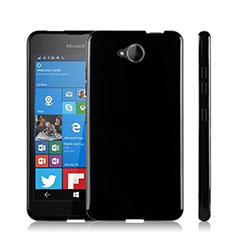 Custodia Silicone Morbida Lucido per Microsoft Lumia 650 Nero