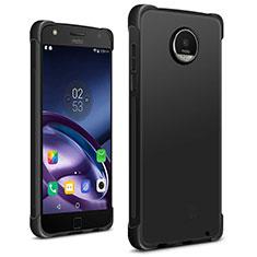 Custodia Silicone Morbida Lucido per Motorola Moto Z2 Play Nero
