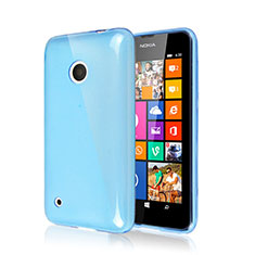Custodia Silicone Morbida Lucido per Nokia Lumia 530 Cielo Blu