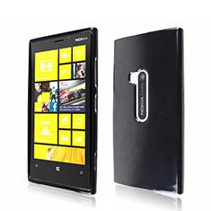 Custodia Silicone Morbida Lucido per Nokia Lumia 920 Nero