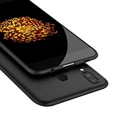 Custodia Silicone Morbida Lucido per Samsung Galaxy A9 Star SM-G8850 Nero