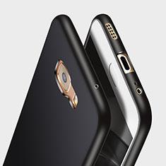 Custodia Silicone Morbida Lucido per Samsung Galaxy C7 Pro C7010 Nero