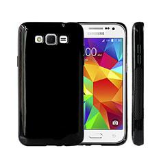 Custodia Silicone Morbida Lucido per Samsung Galaxy Grand 3 G7200 Nero