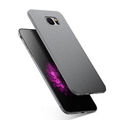 Custodia Silicone Morbida Lucido per Samsung Galaxy Note 5 N9200 N920 N920F Grigio