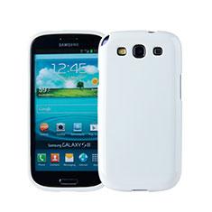 Custodia Silicone Morbida Lucido per Samsung Galaxy S3 III LTE 4G Bianco