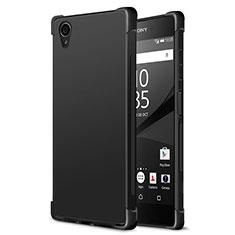 Custodia Silicone Morbida Lucido per Sony Xperia XA1 Plus Nero