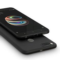 Custodia Silicone Morbida Lucido per Xiaomi Mi A1 Nero