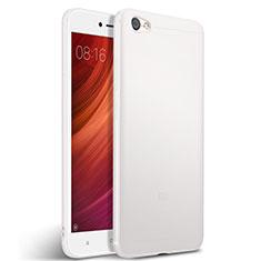 Custodia Silicone Morbida Lucido per Xiaomi Redmi Note 5A Standard Edition Bianco