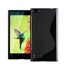 Custodia Silicone Morbida S-Line per Blackberry Leap Nero