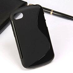 Custodia Silicone Morbida S-Line per Blackberry Q10 Nero