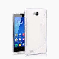 Custodia Silicone Morbida S-Line per Huawei Honor 3C Bianco