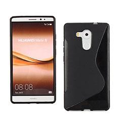 Custodia Silicone Morbida S-Line per Huawei Mate 8 Nero