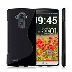 Custodia Silicone Morbida S-Line per LG G4 Nero