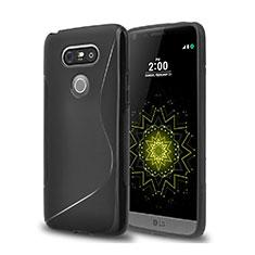 Custodia Silicone Morbida S-Line per LG G5 Nero