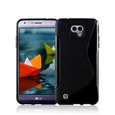 Custodia Silicone Morbida S-Line per LG X Cam Nero