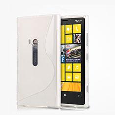 Custodia Silicone Morbida S-Line per Nokia Lumia 920 Bianco