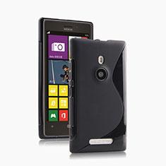 Custodia Silicone Morbida S-Line per Nokia Lumia 925 Nero