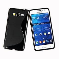 Custodia Silicone Morbida S-Line per Samsung Galaxy Grand Prime 4G G531F Duos TV Nero