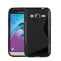 Custodia Silicone Morbida S-Line per Samsung Galaxy J3 (2016) J320F J3109 Nero