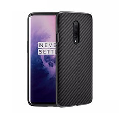 Custodia Silicone Morbida Spigato B02 per OnePlus 8 Nero