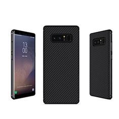Custodia Silicone Morbida Spigato B02 per Samsung Galaxy Note 8 Duos N950F Nero