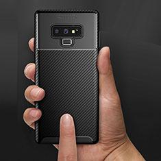Custodia Silicone Morbida Spigato B02 per Samsung Galaxy Note 9 Nero