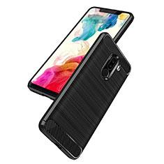 Custodia Silicone Morbida Spigato B02 per Xiaomi Pocophone F1 Nero