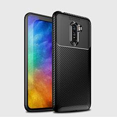 Custodia Silicone Morbida Spigato B03 per Xiaomi Pocophone F1 Nero