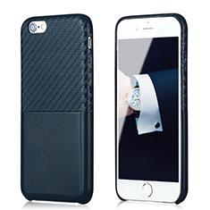 Custodia Silicone Morbida Spigato B05 per Apple iPhone 6 Plus Blu