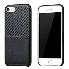 Custodia Silicone Morbida Spigato B05 per Apple iPhone 7 Nero
