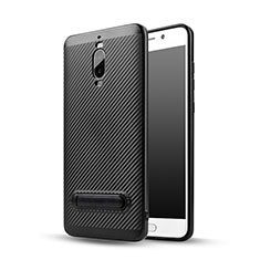 Custodia Silicone Morbida Spigato con Supporto per Huawei Mate 9 Pro Nero