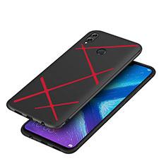 Custodia Silicone Morbida Spigato per Huawei Honor View 10 Lite Rosso