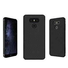 Custodia Silicone Morbida Spigato per LG G6 Nero