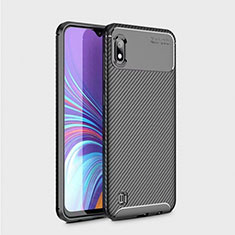 Custodia Silicone Morbida Spigato per Samsung Galaxy A10 Nero