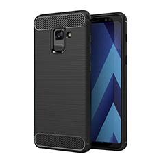 Custodia Silicone Morbida Spigato per Samsung Galaxy A5 (2018) A530F Nero