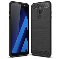 Custodia Silicone Morbida Spigato per Samsung Galaxy A6 Plus (2018) Nero