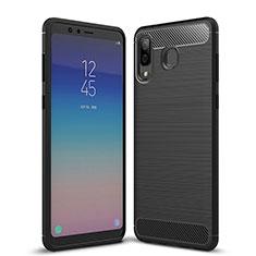 Custodia Silicone Morbida Spigato per Samsung Galaxy A9 Star SM-G8850 Nero