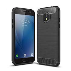 Custodia Silicone Morbida Spigato per Samsung Galaxy J2 Pro (2018) J250F Nero