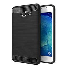 Custodia Silicone Morbida Spigato per Samsung Galaxy J5 (2017) Version Americaine Nero
