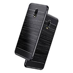 Custodia Silicone Morbida Spigato per Samsung Galaxy J7 Plus Nero