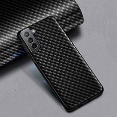 Custodia Silicone Morbida Spigato per Samsung Galaxy S21 Plus 5G Nero